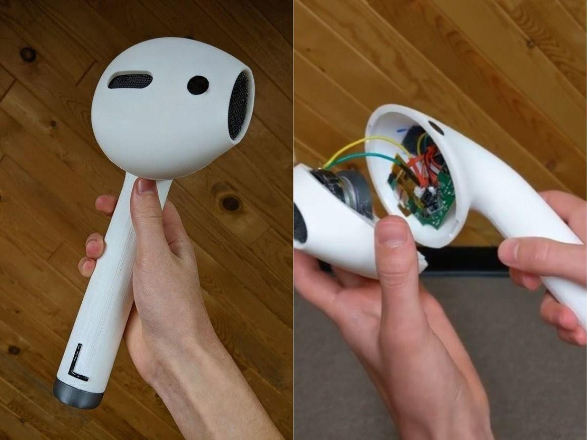 Why Buy Boring Old Regular Airpods When You Can Print A Giant