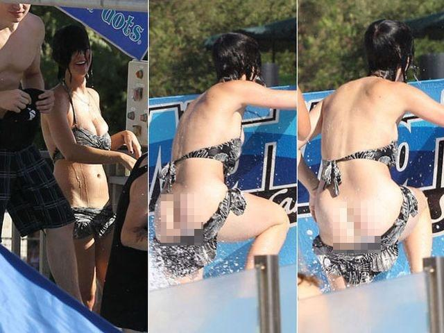 Katy Perry flashes butt
