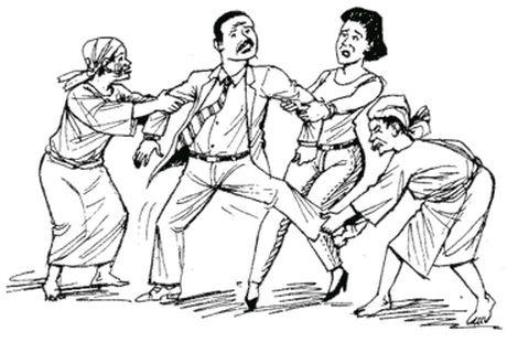 5 Jealous women rape their husband to death