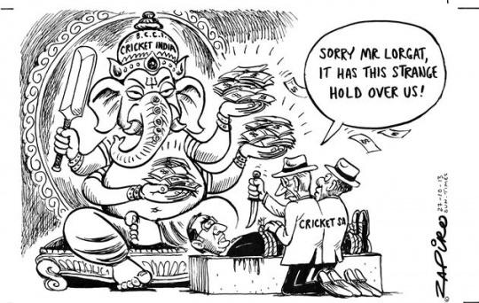 Cartoon Row Threatens India's Tour of South Africa