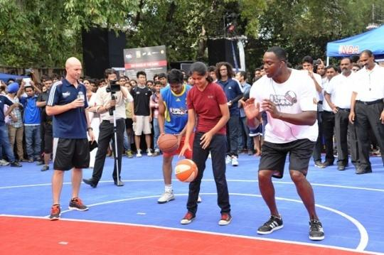 Horace Grant In Delhi To Promote NBA Jam