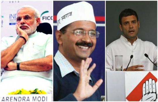 Modi Kejriwal Rahul