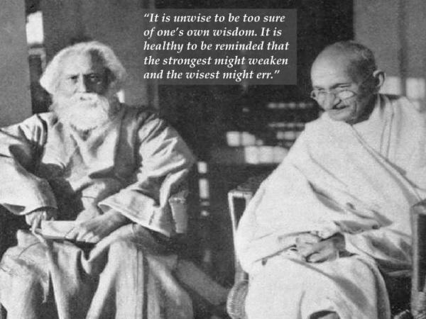 Gandhi and tagore