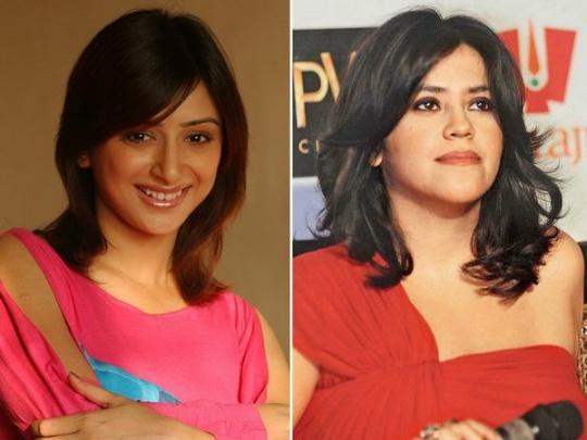 Ekta Kapoor and Gauri Pradhan Tejwani