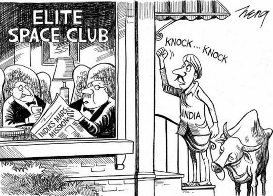 New York Times Mars Mission cartoon