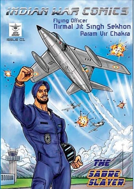 Cover of the graphic novel based on Nirmal Jit Singh Sekhon