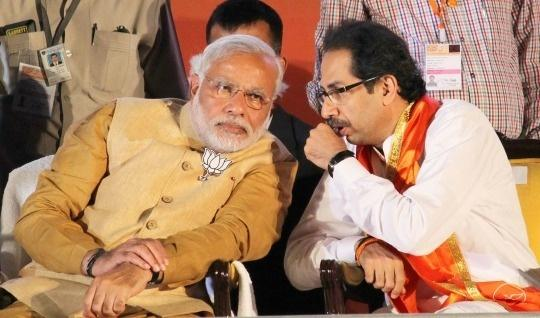 Prime Minister Narendra Modi, Shiv Sena President Uddhav Thackeray