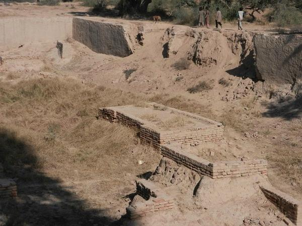 excavated portions