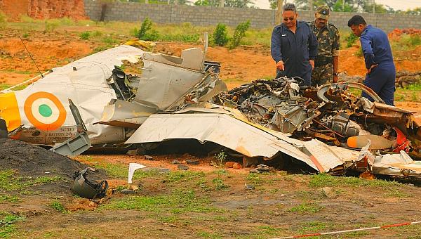 india fighter jet crash india