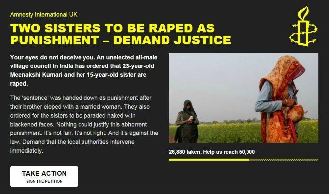Indian sisters seek help from SC against a rape order