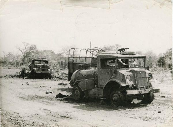destroyed vehicles