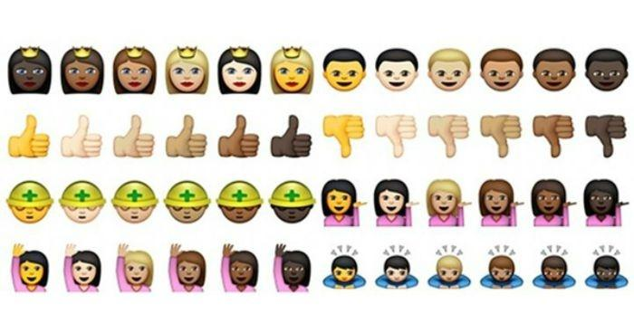 whatsapp has now introduced coloured emoji and there s def something