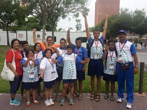 Victorious Indian Aquatics team of the Special Olympics