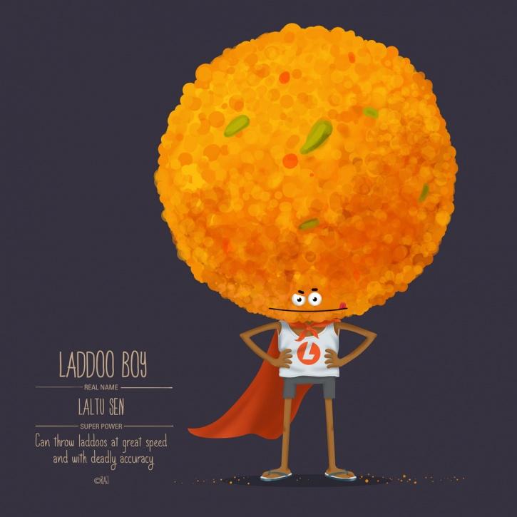 Food Superhero laddoo boy