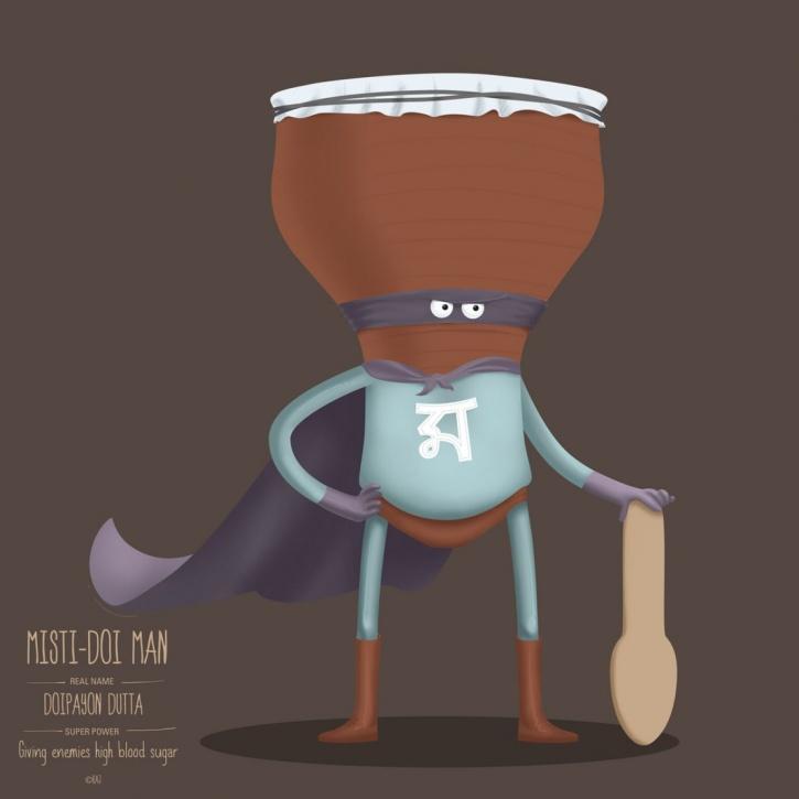 Food Superhero Misti Doi Man