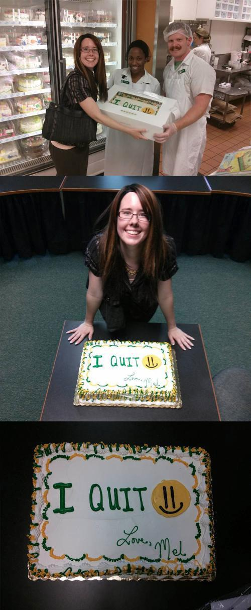 cake 15 Hilarious Letters Of Resignation That