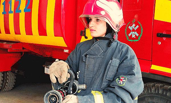 Pakistan first female firefighter