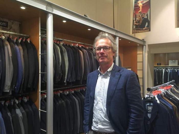 Bert Vance runs his family's clothing business.