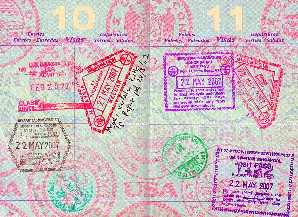 immigration stamsp