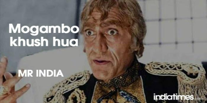 Epic Dialogue By Amrish Puri In Mr.India