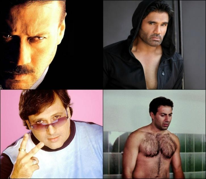 Jackie Shroff, Suneil Shetty, Govinda, Sunny Deol