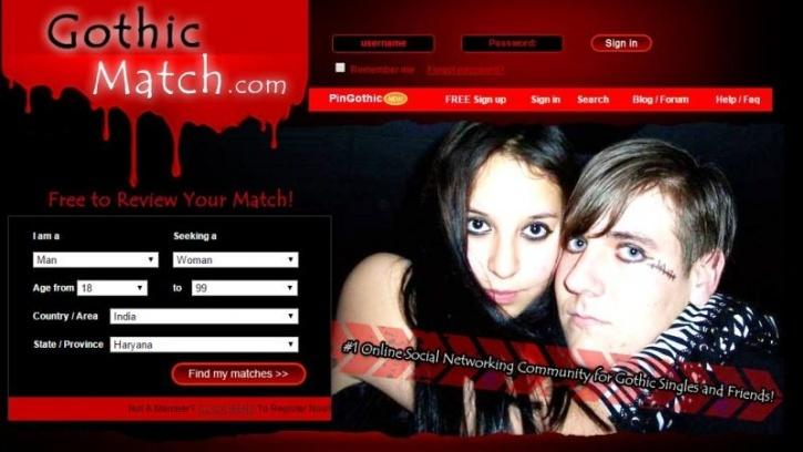 Gothic singles dating site