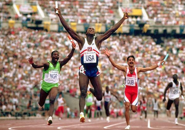 Carl Lewis in 1992 Olympics