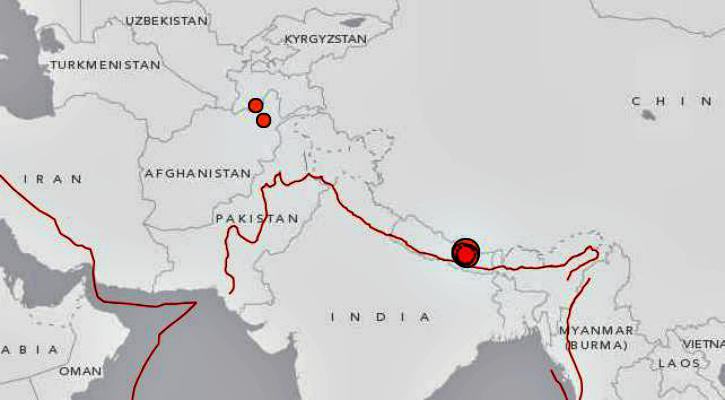 earthquakes near india may 12