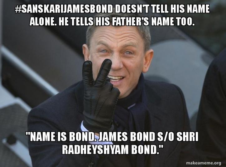 #SanskariJamesBond