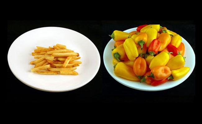 These Photos Of 200 Calories Of Junk Food Vs Healthy Food Put A Lot