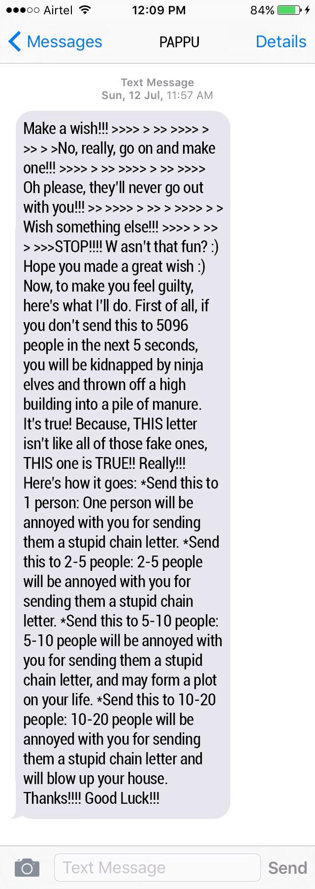 9 chain messages you should send to everyone who sends you chain