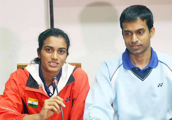 PV Sindhu and P Gopichand