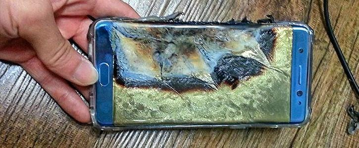 Samsung Galaxy Note 7 Fire