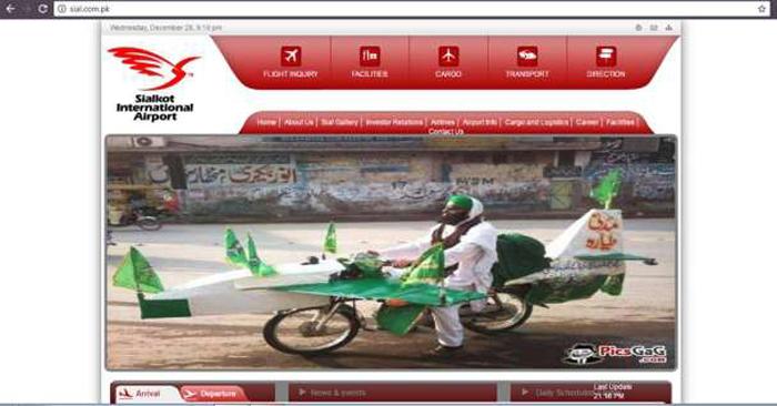 Attack Pak Airport Website