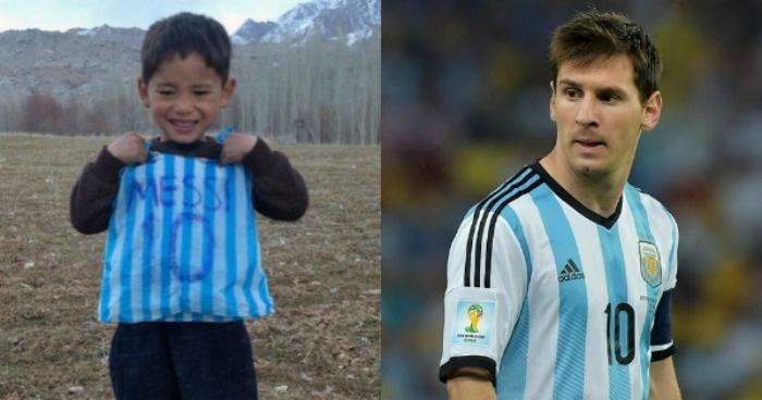 b846024baf1 Lionel Messi To Meet His Biggest Fan Yet, The 5-Year-Old Afghan Boy Who  Wore A Plastic Bag Jersey!