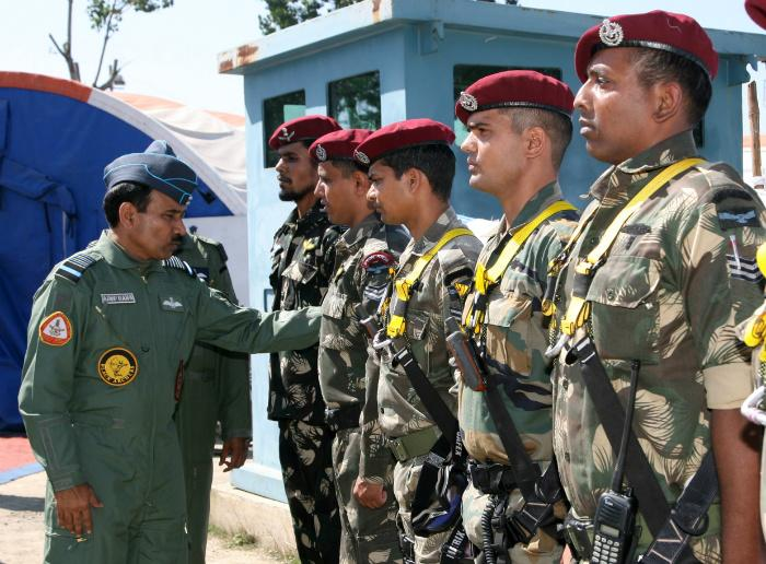 IAF Chief with Garud Commando Force