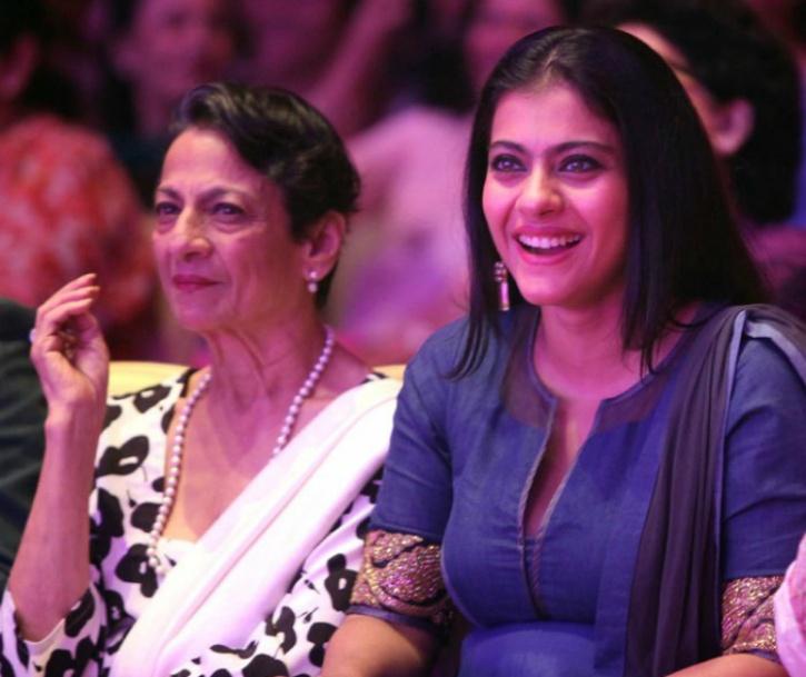 Kajol with Tanuja