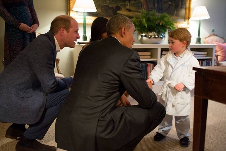 barack obama and prince george