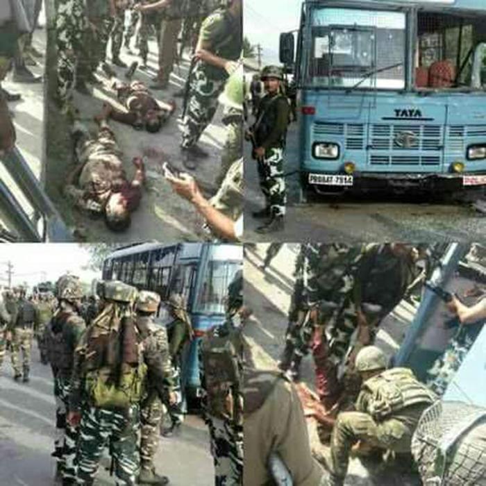Terrorists Attack Crpf Bus In J&K, 5 Jawans Killed; 2 Militants Shot Dead