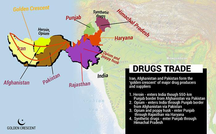 Golden Crescent-the Nefarious Route Through Which Drugs Enter Punjab