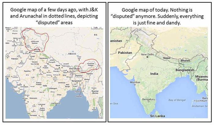 Actual Map Of India.Looks Like India S New Map Law Just Scared Google Into Showing J K