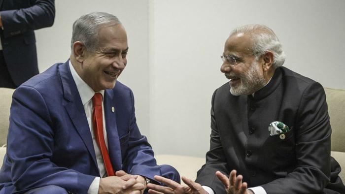 Israeli President Reuven Rivlin With Indian Prime Minister Narendra Modi