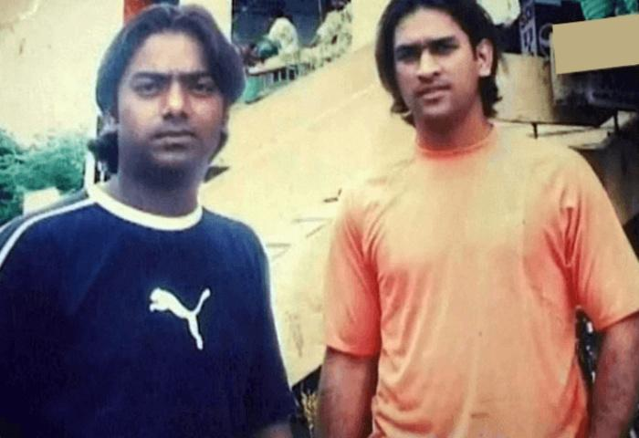 Dhoni (right) with Santosh