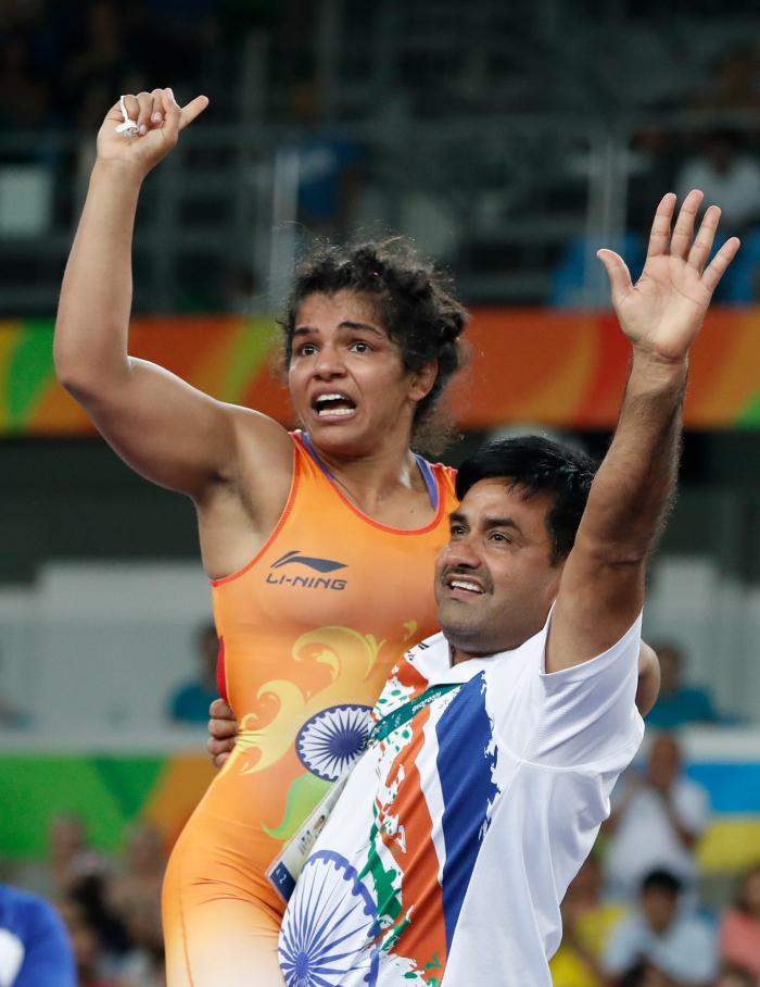 Sakshi with Kuldeep
