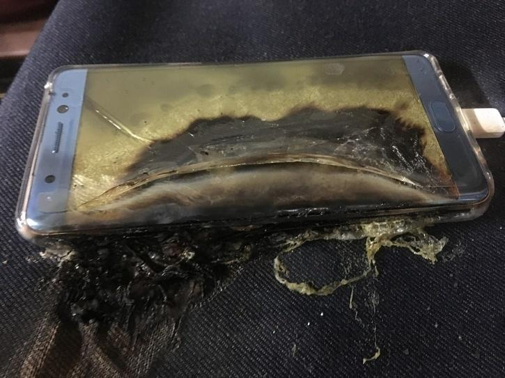 Galaxy Note 7 Catching Fire