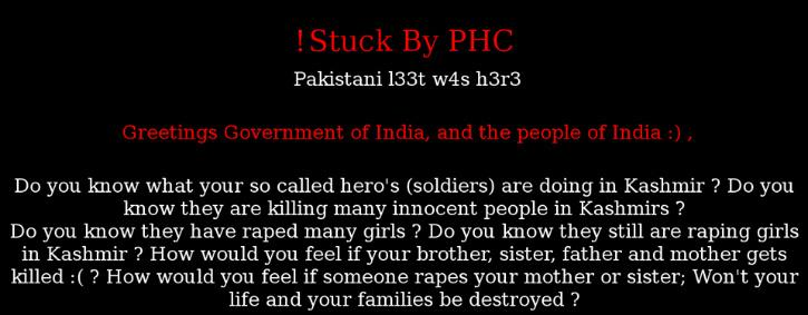 A Pakistani Group Hacked & Defaced 10 Indian University Websites As
