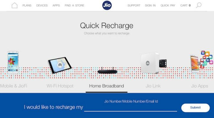 Reliance Jio Website Now Hints At Fibre Broadband And Television