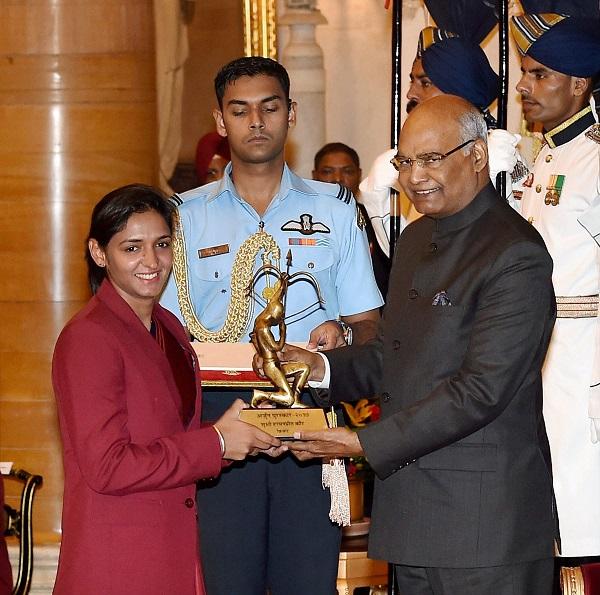 Image result for Harmanpreet Kaur arjun award