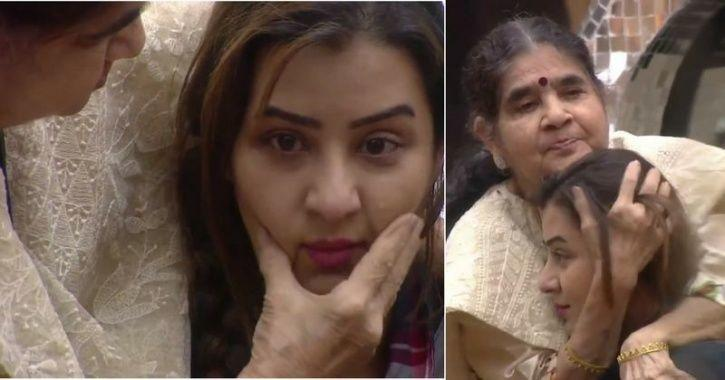 A still of Shilpa Shinde with her mother inside Bigg Boss 11 house.