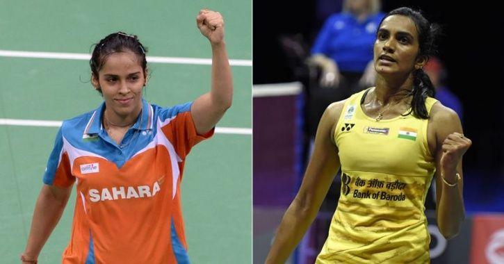 p v sindhu and Saina Nehwal